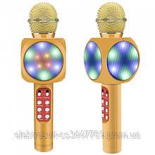 Беспроводной микрофон караоке bluetooth WSTER WS-1816. Цвет: золотой