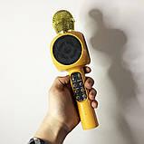 Беспроводной микрофон караоке bluetooth WSTER WS-1816. Цвет: золотой, фото 5