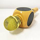 Беспроводной микрофон караоке bluetooth WSTER WS-1816. Цвет: золотой, фото 7