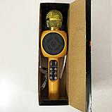 Беспроводной микрофон караоке bluetooth WSTER WS-1816. Цвет: золотой, фото 8