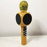 Беспроводной микрофон караоке bluetooth WSTER WS-1816. Цвет: золотой, фото 9