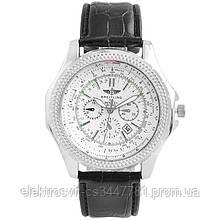 Часы наручные Breitling White ремешок черный (реплика)