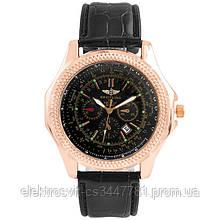 Часы наручные Breitling Black ремешок черный (реплика)