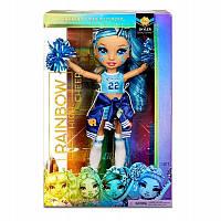 Лялька Rainbow High Cheerleader Squad Skyler Bradshaw blue, синя лялька-cheerleader 572077