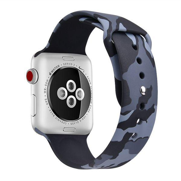Ремінець Grand Silicone Band for Apple Watch 42/44mm Grey Camouflage (AL3647)