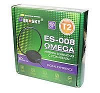 Цифровая телевизионная комнатная антенна EUROSKY 008 ОMEGA с усилителем 5В