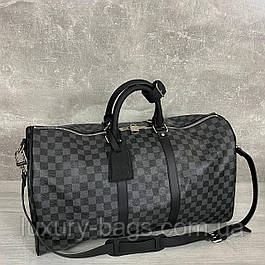 Мужская спортивная сумка Louis Vuitton Keepall Damier Graphite