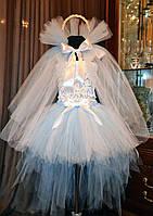 Детский карнавальный костюм снежной королевы