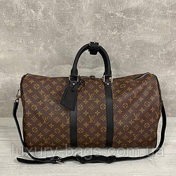 Дорожная сумка Louis Vuitton Keepall Monogram Macassar