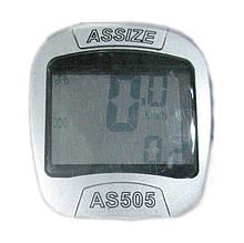 Велокомпьютер Assize AS-505 проводной 11 функций серебристый(409264)
