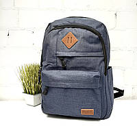 Стильний рюкзак поліестер синій Арт.8070 Leadhake (Китай)