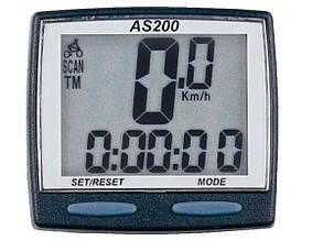Велокомпьютер Assize AS-200 проводной 11 функций черный(409132)