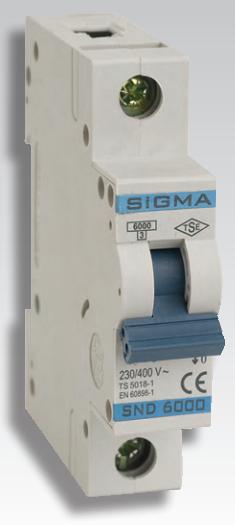 Автоматический выключатель автомат 6 А ампер Европа однофазный однополюсный В B характеристика