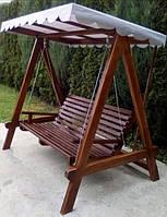 Качель для дачи из дерева для отдыха