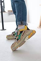 Баленсиага обувь женская Кроссовки Balenciaga Triple S Tricolor (Реплика) 39