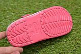 Детские шлепанцы кроксы сабо crocs розовые принт микки маус р30-35, фото 4