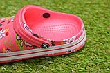 Детские шлепанцы кроксы сабо crocs розовые принт микки маус р30-35, фото 5