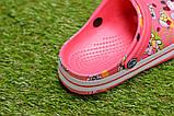 Детские шлепанцы кроксы сабо crocs розовые принт микки маус р30-35, фото 3
