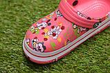Детские шлепанцы кроксы сабо crocs розовые принт микки маус р30-35, фото 6