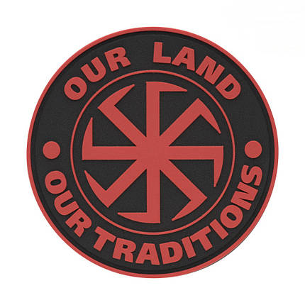 M-Tac нашивка Our Land ПВХ красная, фото 2