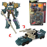 Трансформер B103 робот+військ.машина, лист, 24,5-36,5-8,5 см.
