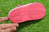 Дитячі капці крокси сабо crocs рожевий принт квіти р24-29, фото 4