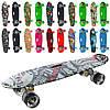 Скейт MS 0749-7 пенні, алюм.підвіска, колеса ПУ, світло,антиковз., принт, 4 кольори,10 видів,55-15см