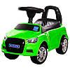 Каталка-толокар M 3147A (MP3)-5 багажник під сидінням, муз., бат., зелений, 63,5-37-29 см.