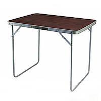 Раскладной стол туристический STENSON 80 х 60 х 70 см (MH-3089L) -Темное дерево