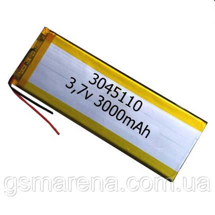 Аккумулятор универсальный 3045110 4.5x11cm 3.7v 3000mAh, фото 2