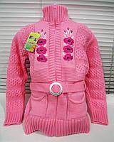 Теплая вязанная кофта для девочки р 36