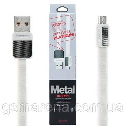 Кабель micro-USB Remax Platinum RC-044m micro-USB 1m Белый, фото 2