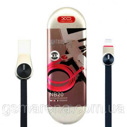 Кабель USB Apple XO NB20 Apple Lightning 1m Черный, фото 2