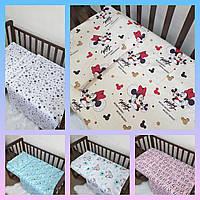 Сменное детское постельное белье в кроватку , комплект постельного в кроватку
