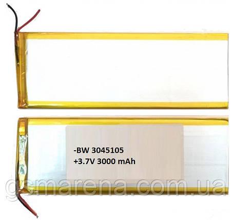 Аккумулятор универсальный 3040105P 4.0x10.05cm 3.7v 3000mAh, фото 2