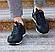 Мужские кожаные летние кроссовки перфорация Lacoste Lerond black (реплика), фото 3