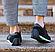 Мужские кожаные летние кроссовки перфорация Lacoste Lerond black (реплика), фото 4