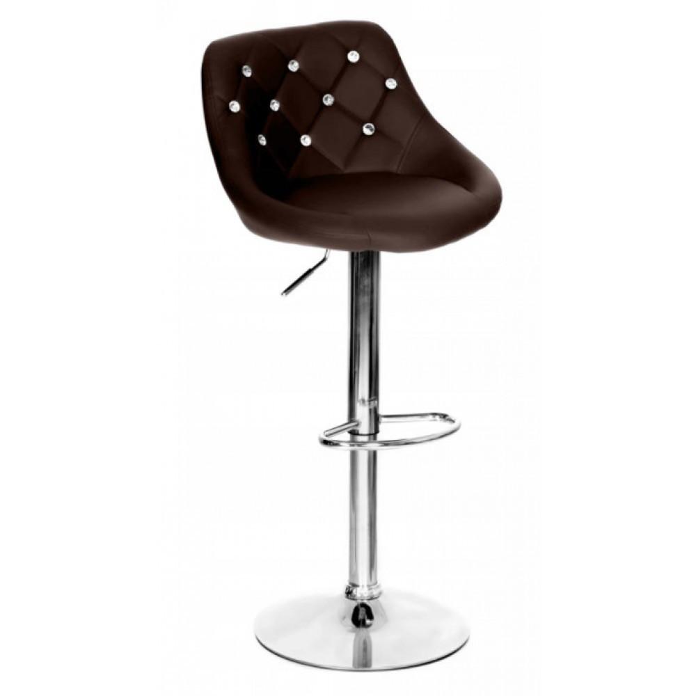Барний стілець зі спинкою Bonro B-801C коричневий