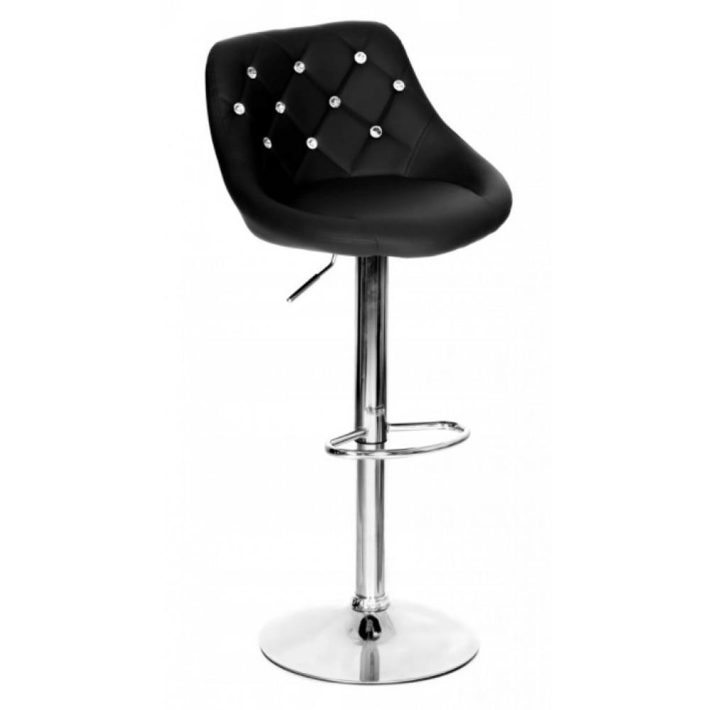 Барный стул со спинкой Bonro B-801C черный