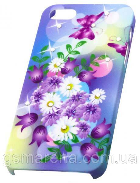 Чехол пластиковый Protective Apple iPhone 5 tulips