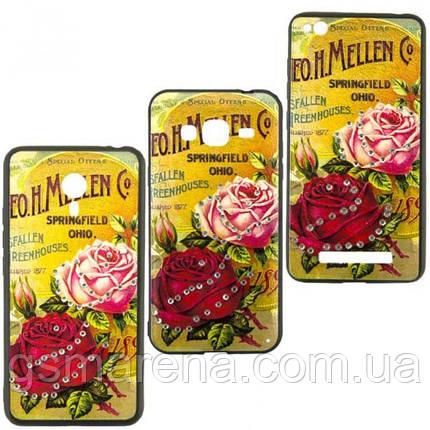 Чехол накладка Flower Case Samsung J3 (2017) J330 Springfield Rose, фото 2