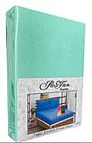 Махровая простынь на резинке 160*200 с наволочками Разные цвета RoYan Турция, фото 6