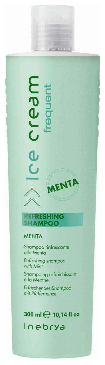 Освіжаючий шампунь з м'ятою Inebrya Frequent Ice Cream Refreshing Shampoo 300 мл.