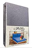 Махровая простынь на резинке 160*200 с наволочками Разные цвета RoYan Турция, фото 10