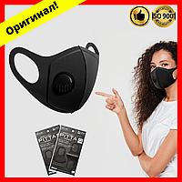 Многоразовая медицинская маска питта черная, (Питта) двухслойная, ультразащитная