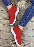 Кроссовки женские 8 пар в ящике красного цвета 36-41, фото 5