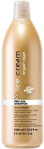 Шампунь с аргановым маслом для окрашенных волос Inebrya Ice Cream Pro Age Shampoo 1000 мл.
