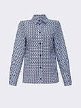 Класична сорочка з принтом на застібці гудзики і довгим рукавом, фото 10