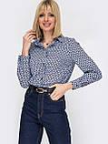 Класична сорочка з принтом на застібці гудзики і довгим рукавом, фото 6
