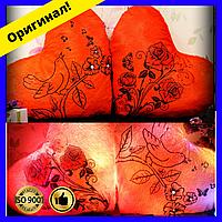 Мягкая декоративная Подушка розы и птицы, светящаяся подушка, подарок на День Святого Валентина девушке, парню
